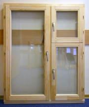 Деревянные окна эконом класса.