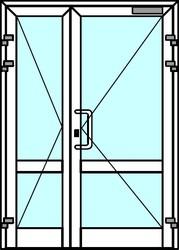 Алюминиевые двери из профиля Алютех серии ALT С48