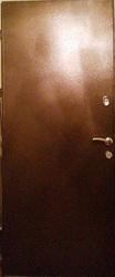 Дверь металлическая входная с коробкой и двумя замками.